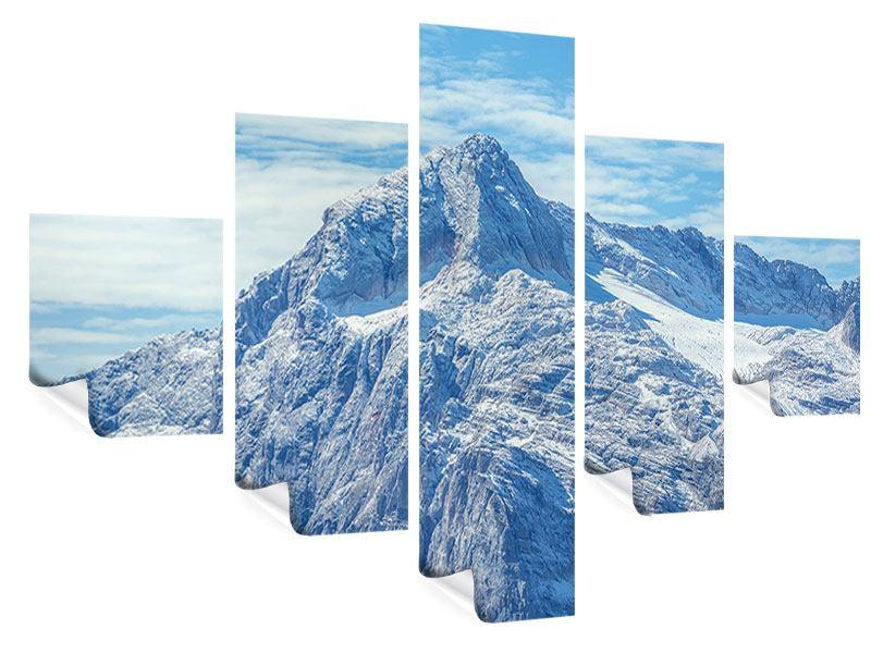 Poster 5-teilig Friedliche Bergstimmung