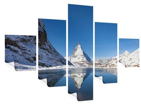 Poster 5-teilig Der Riffelsee am Matterhorn