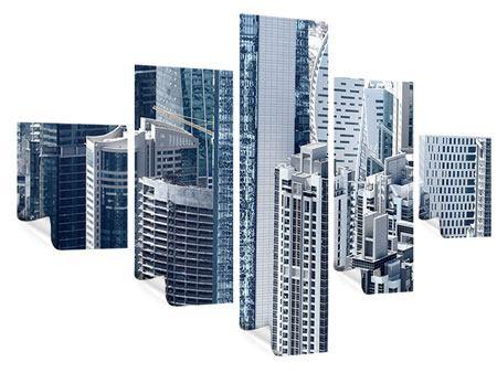 Poster 5-teilig Die Wolkenkratzer von Dubai
