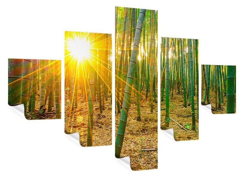 Poster 5-teilig Bambusse