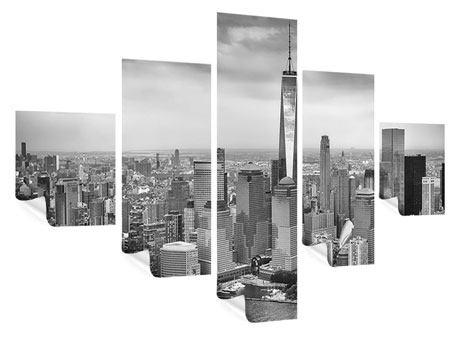 Poster 5-teilig Skyline Schwarzweissfotografie New York