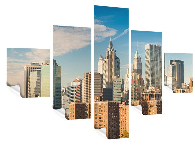 Poster 5-teilig Skyline New York