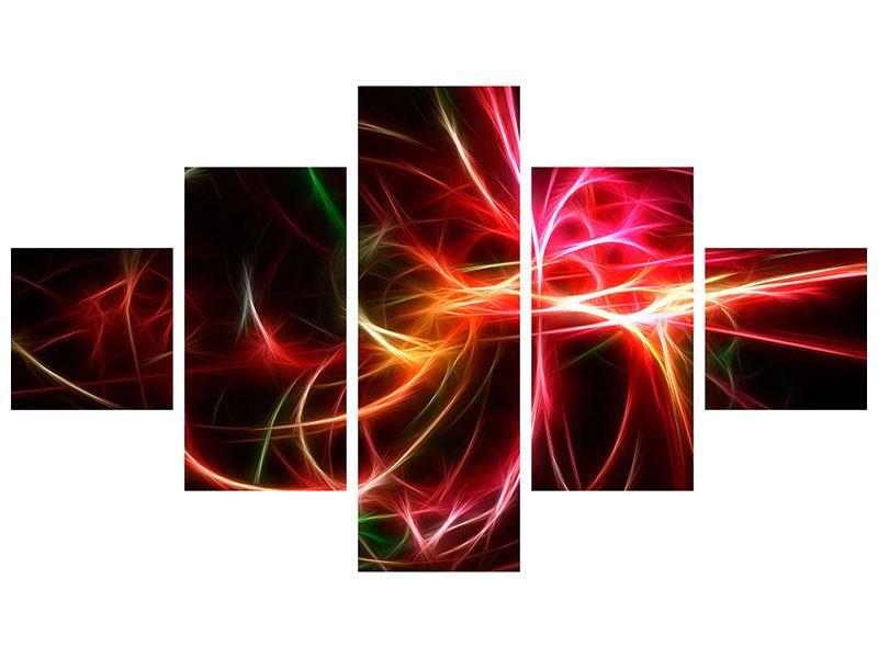 Poster 5-teilig Fraktales Lichtspektakel