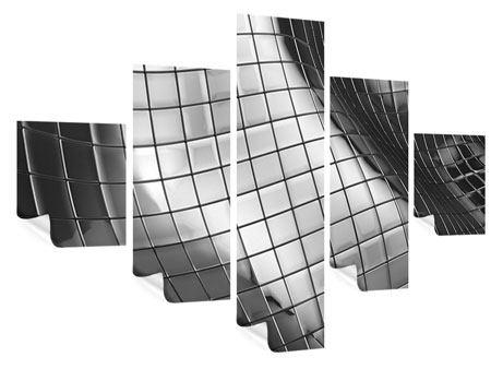 Poster 5-teilig Abstrakter Stahl