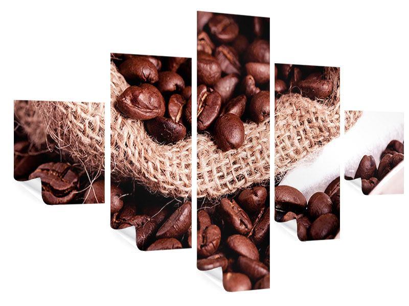 Poster 5-teilig XXL Kaffeebohnen