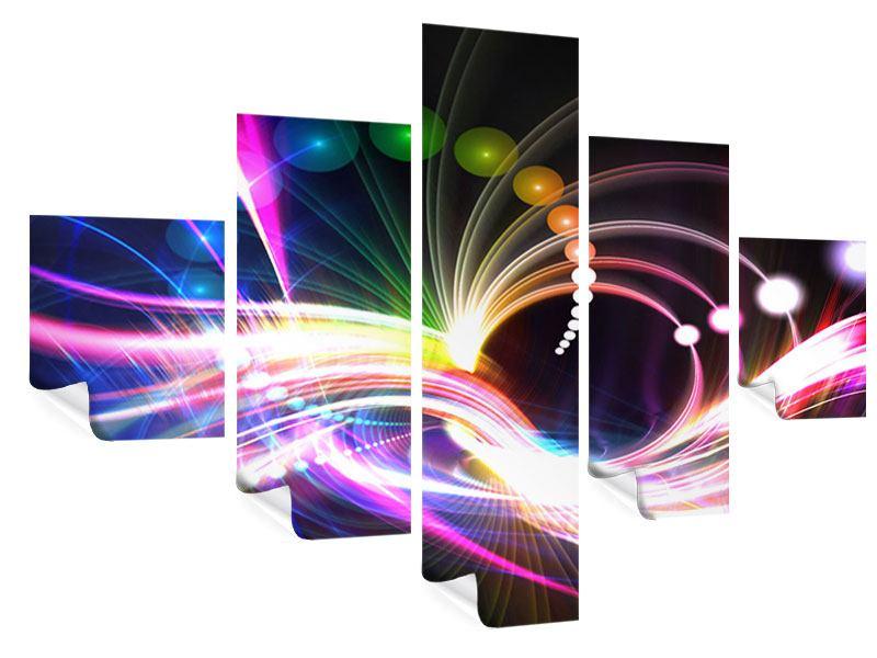 Poster 5-teilig Abstrakte Lichtreflexe
