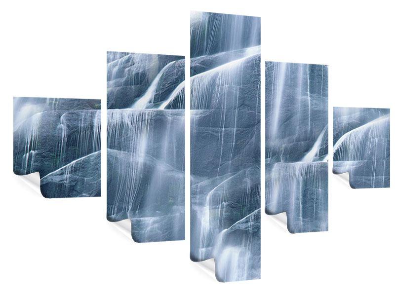 Poster 5-teilig Grossartiger Wasserfall