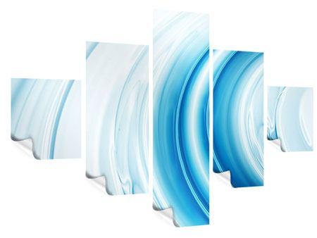 Poster 5-teilig Abstraktes Glas