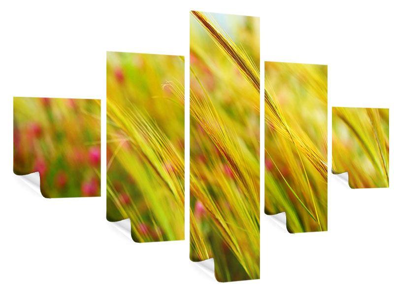 Poster 5-teilig Das Weizenfeld
