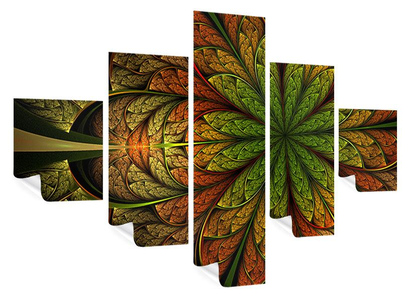 Poster 5-teilig Abstraktes Blumenmuster