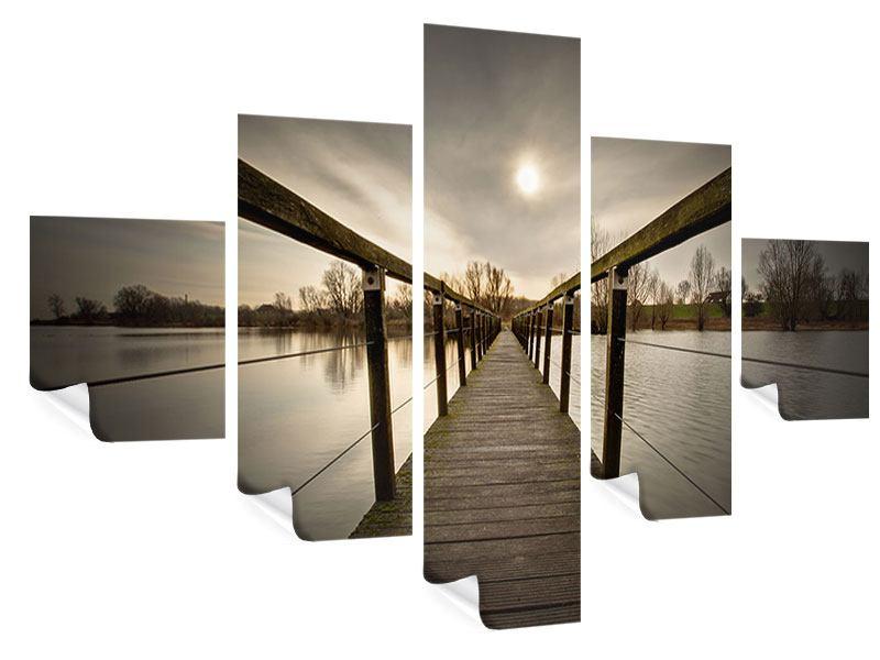 Poster 5-teilig Die Holzbrücke