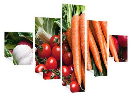 Poster 5-teilig Gemüse