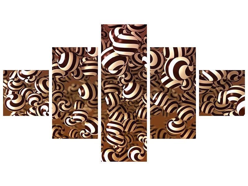 Poster 5-teilig Schokoladen-Bonbons