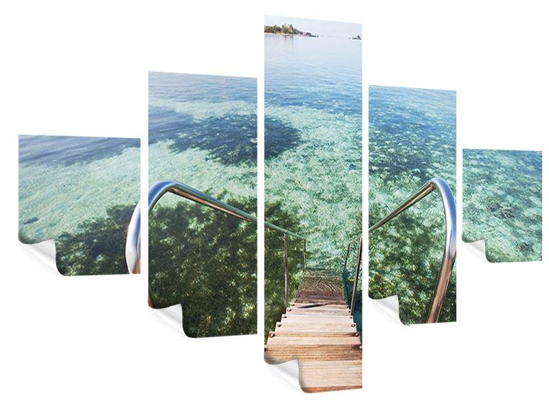Poster 5-teilig Bad im Meer