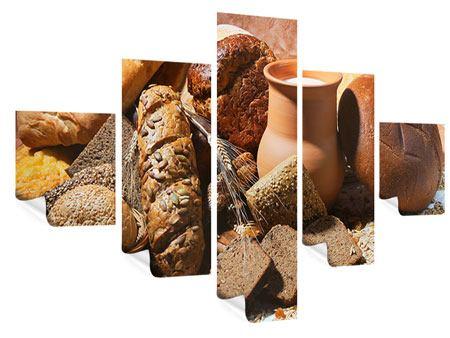 Poster 5-teilig Frühstücksbrote