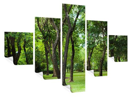 Poster 5-teilig Kirschbaum-Garten