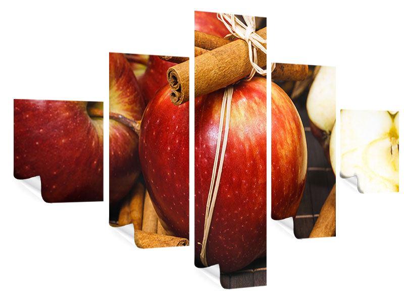 Poster 5-teilig Äpfel