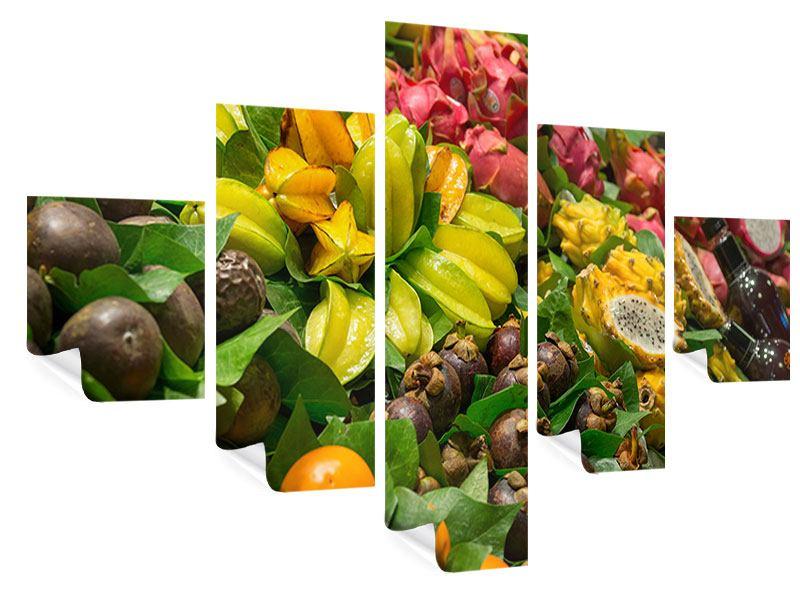 Poster 5-teilig Früchte