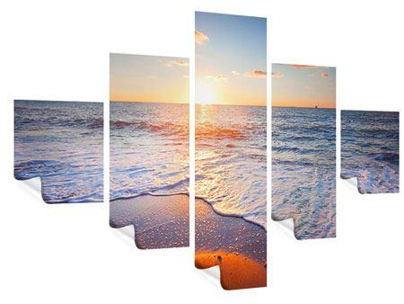 Poster 5-teilig Sonnenuntergang am Horizont