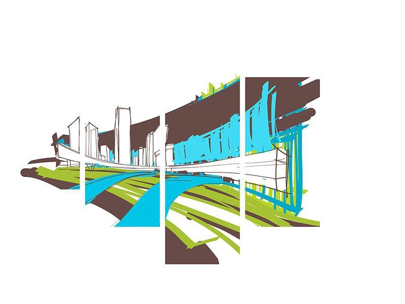 Poster 5-teilig Graffiti Street-Art