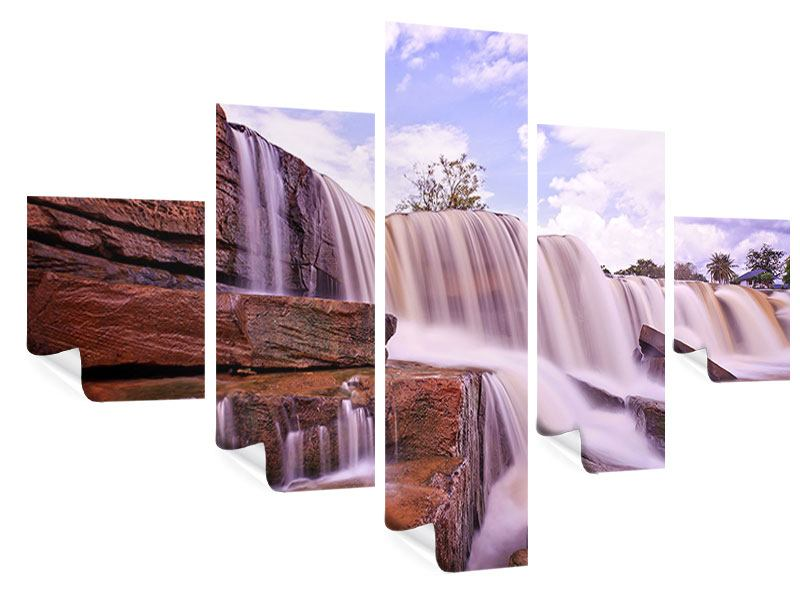Poster 5-teilig Himmlischer Wasserfall