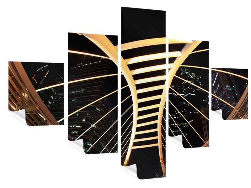 Poster 5-teilig Avantgardistische Brücke