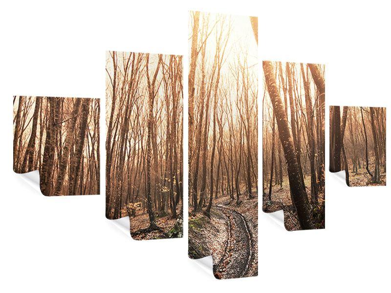 Poster 5-teilig Der kahle Wald