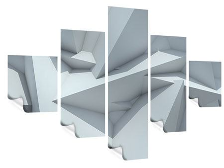 Poster 5-teilig 3D-Kristallo