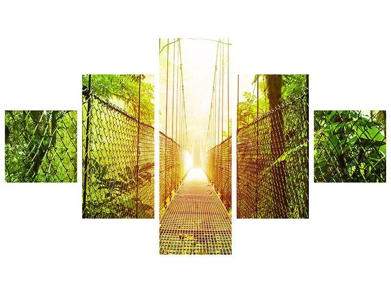 Poster 5-teilig Hängebrücke