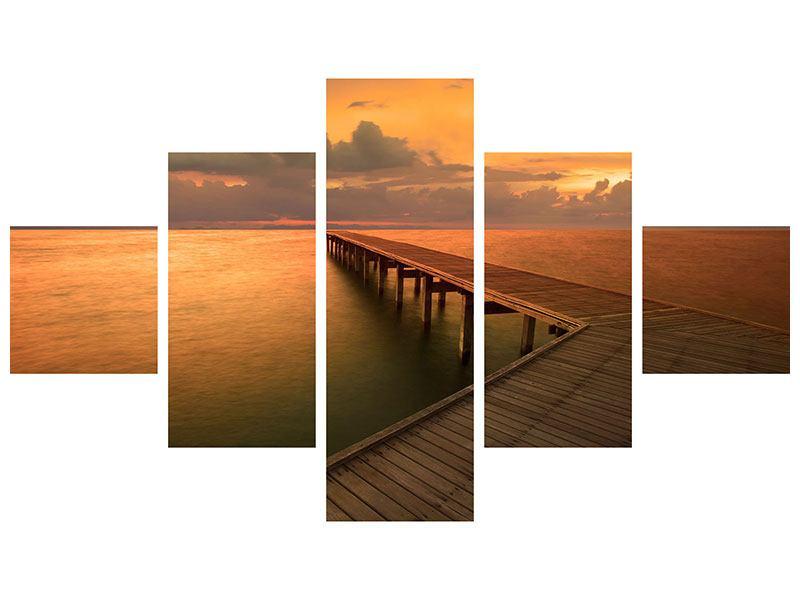 Poster 5-teilig Der Steg am Meer