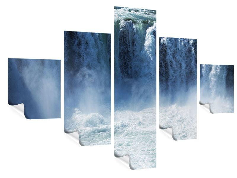 Poster 5-teilig Mächtiger Wasserfall
