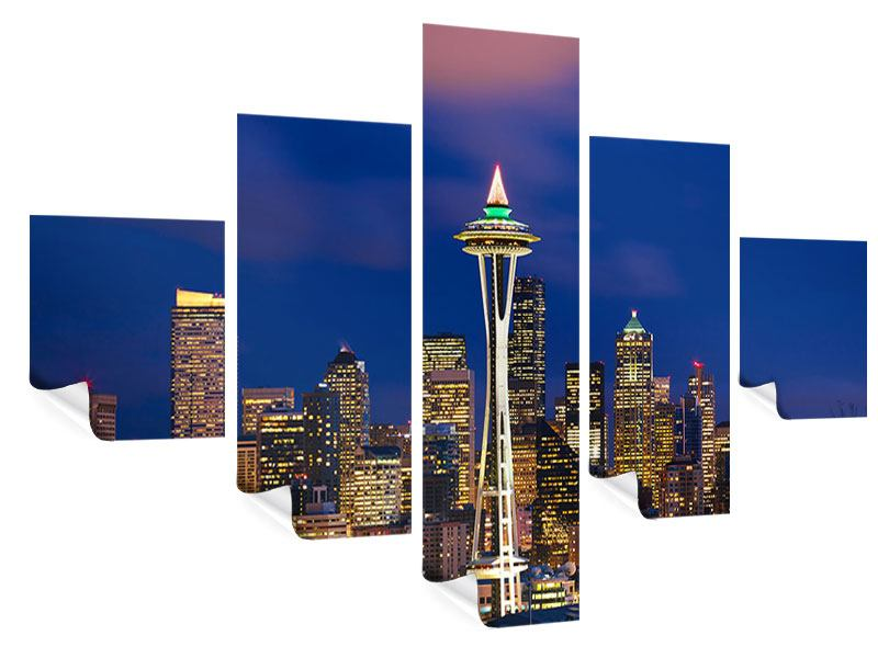Poster 5-teilig Skyline Seattle