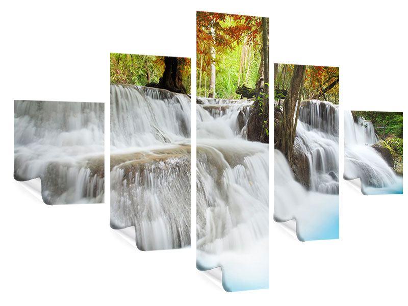 Poster 5-teilig Erawan Wasserfall