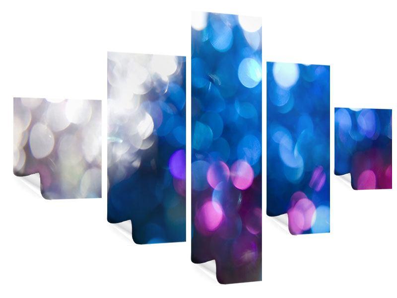 Poster 5-teilig Abstraktes Licht