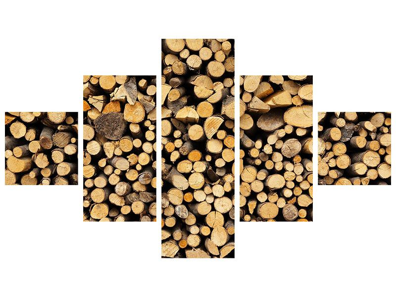 Poster 5-teilig Brennholz