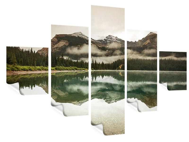 Poster 5-teilig Spiegelung im Glacier Nationalpark
