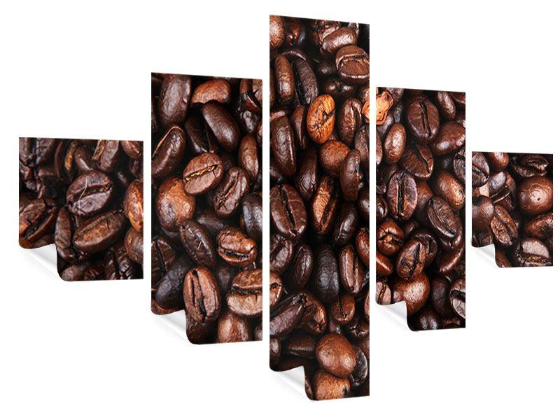 Poster 5-teilig Kaffeebohnen in XXL