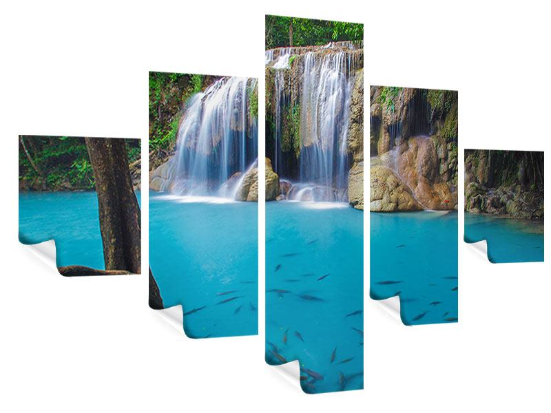 Poster 5-teilig Naturerlebnis Wasserfall