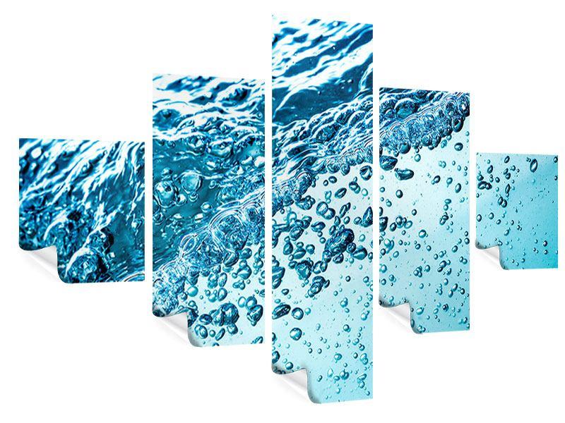 Poster 5-teilig Wasser in Bewegung