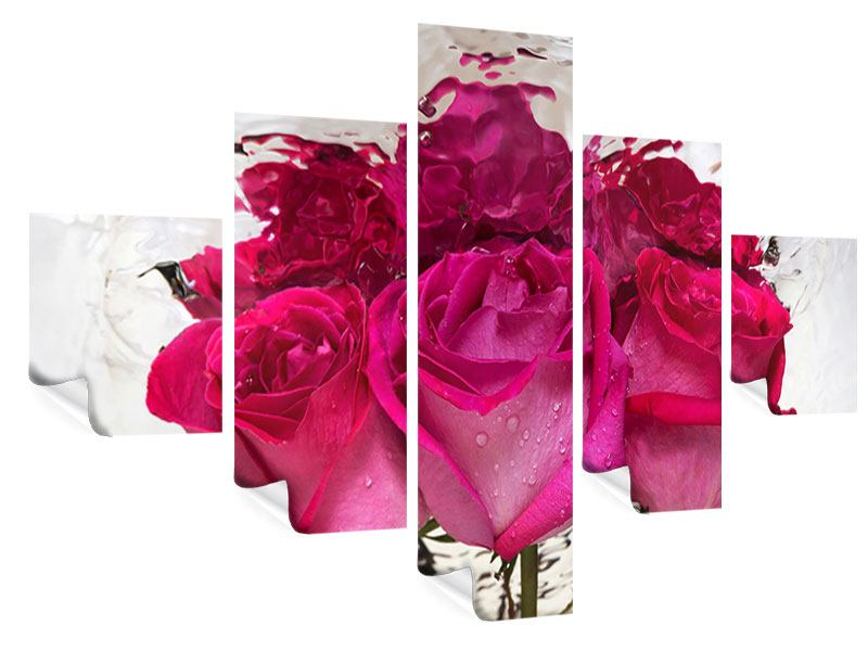 Poster 5-teilig Die Rosenspiegelung