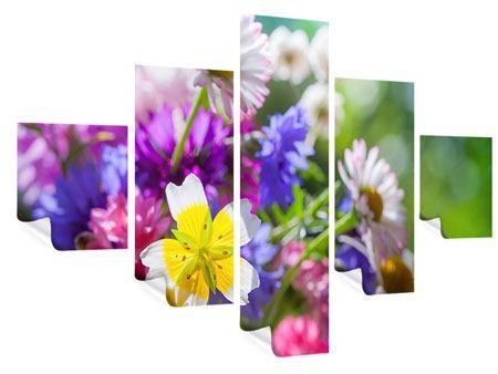 Poster 5-teilig XXL Gartenblumen