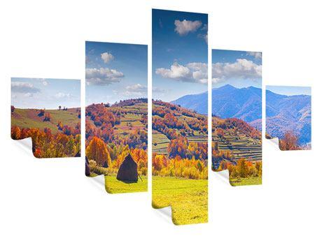 Poster 5-teilig Herbstliche Berglandschaft