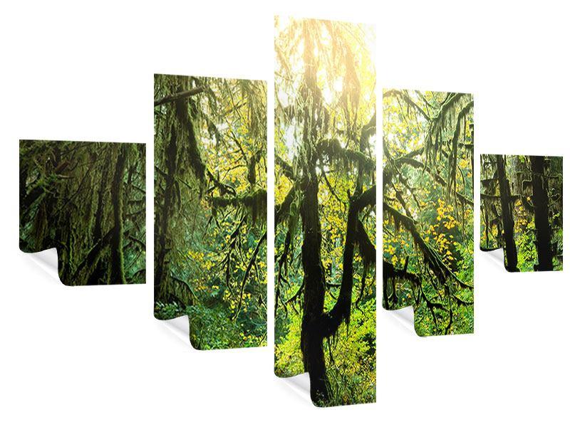 Poster 5-teilig Verträumter Wald