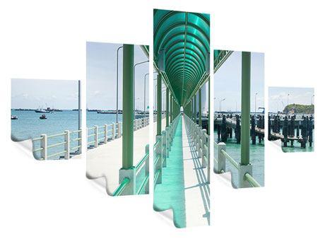 Poster 5-teilig Die Brücke am Meer