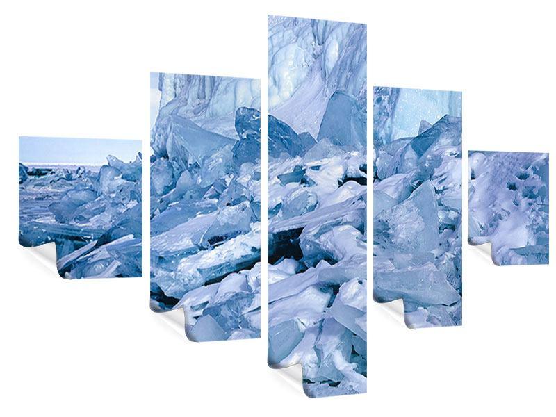 Poster 5-teilig Eislandschaft Baikalsee