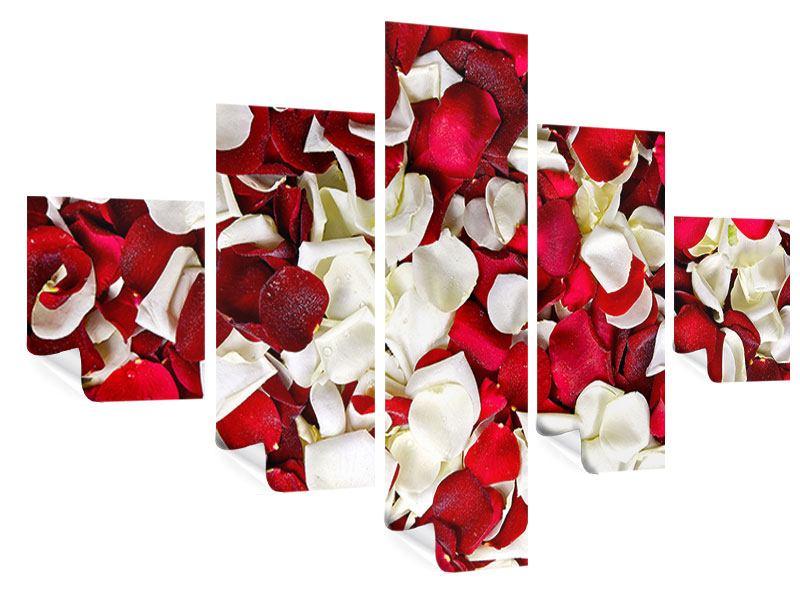 Poster 5-teilig Rosenblätter