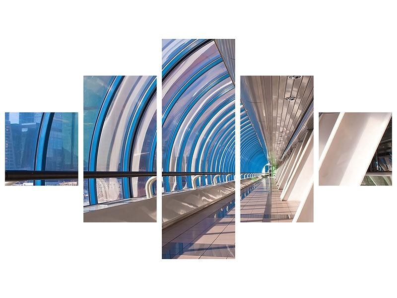 Poster 5-teilig Hypermoderne Brücke
