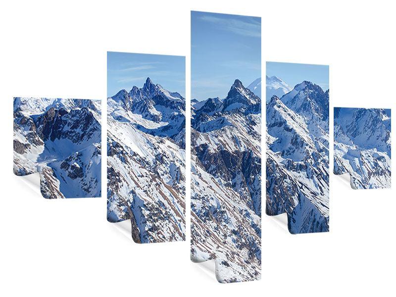 Poster 5-teilig Gipfelspitzen