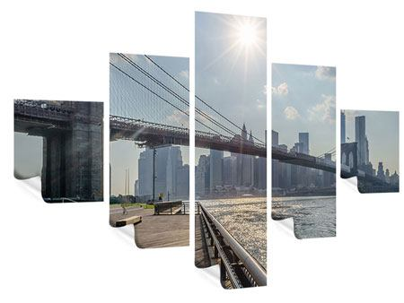 Poster 5-teilig Brooklyn Bridge