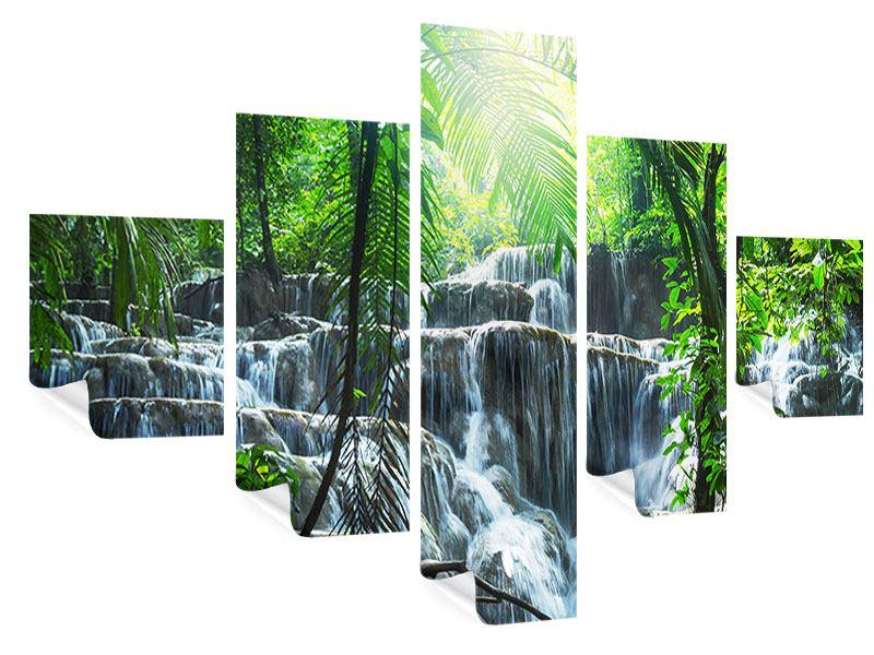 Poster 5-teilig Wasserfall Agua Azul